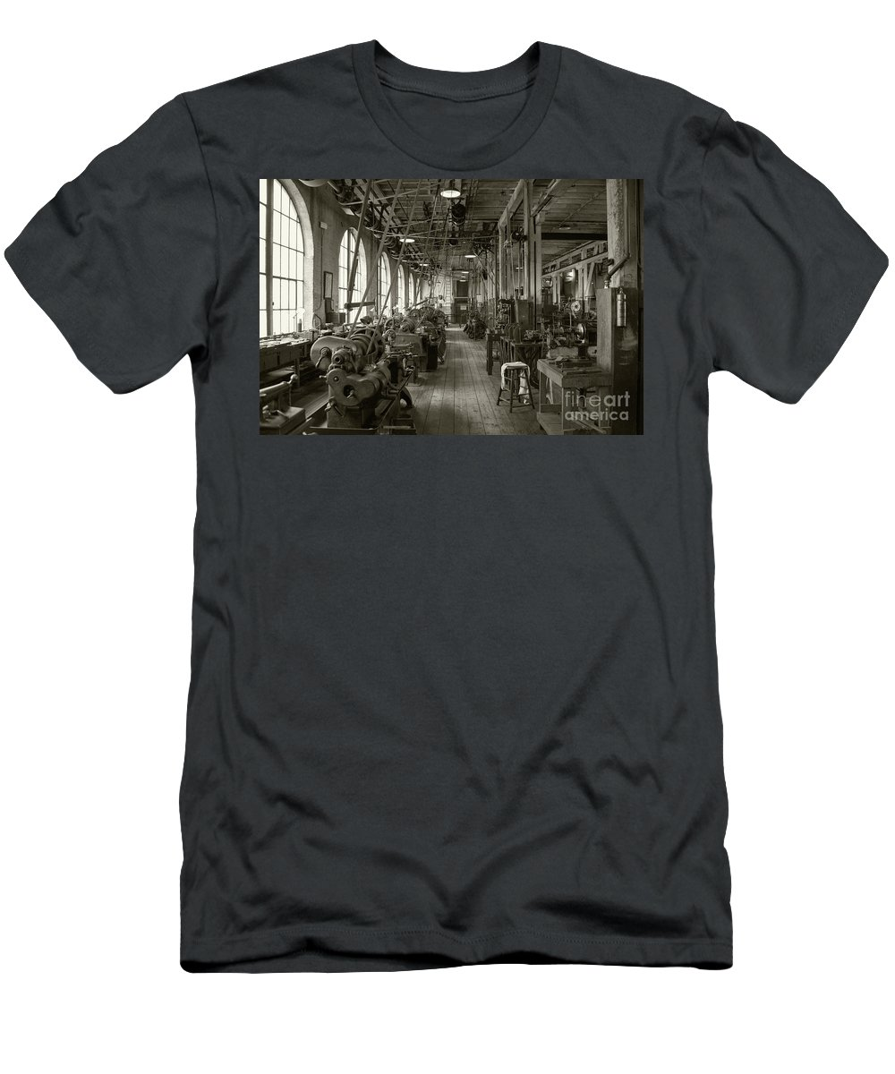 Edison Men's T-Shirt (Athletic Fit) featuring the photograph Edison's Workshop by Rob Hawkins