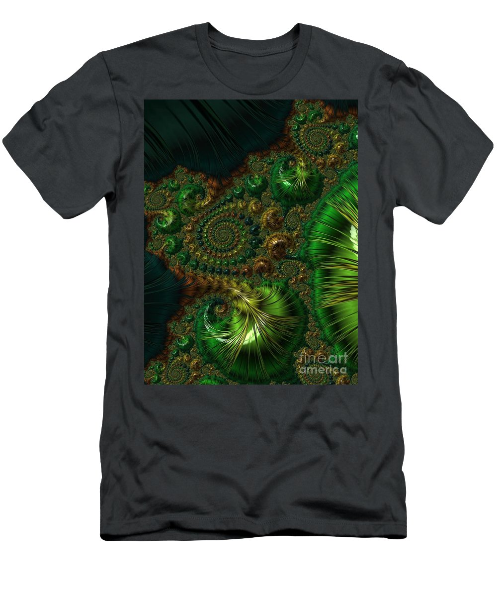 Frax Men's T-Shirt (Athletic Fit) featuring the photograph Emerald City. by Minnetta Heidbrink