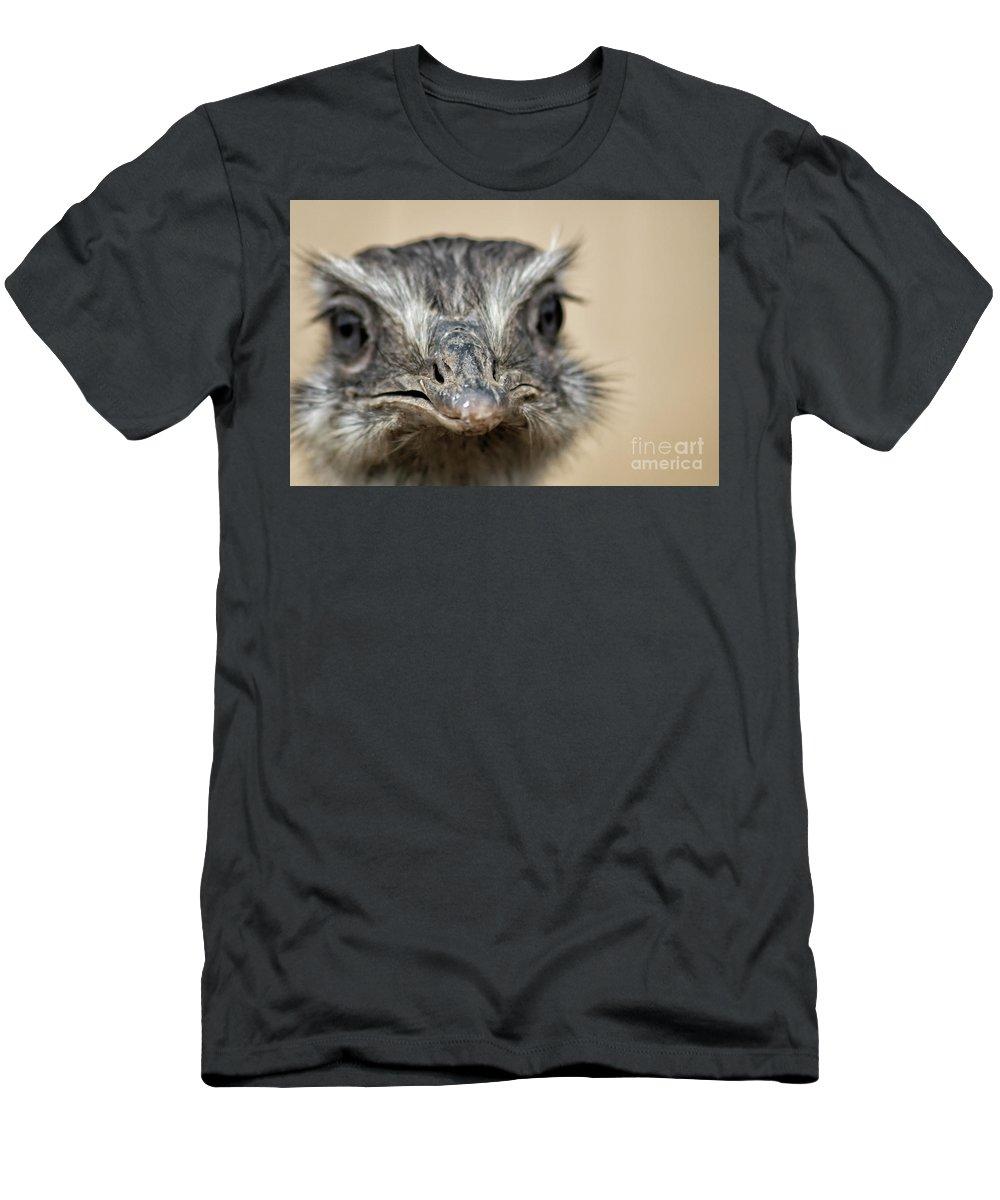 Emu Men's T-Shirt (Athletic Fit) featuring the photograph Emu Print 9052 by Paulette Thomas