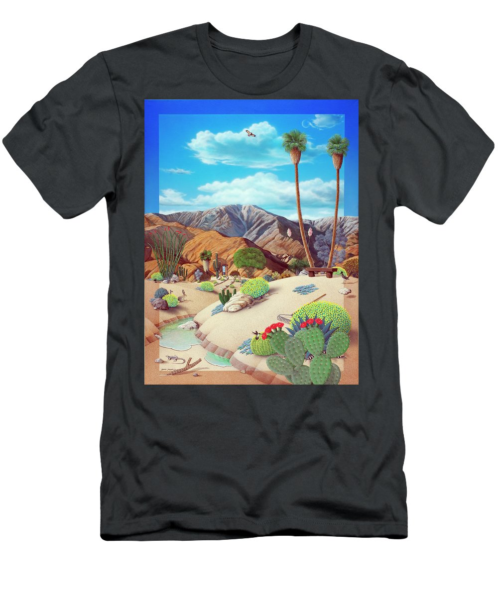 Desert T-Shirt featuring the painting Enchanted Desert by Snake Jagger