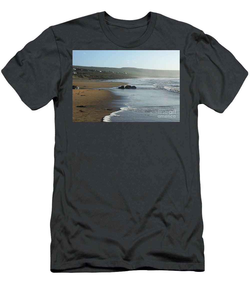 Beach Fanore Clare Ireland Eire Photography Seascape Landscape Prints Pskeltonphoto Men's T-Shirt (Athletic Fit) featuring the photograph Fanore Beach Clare by Peter Skelton