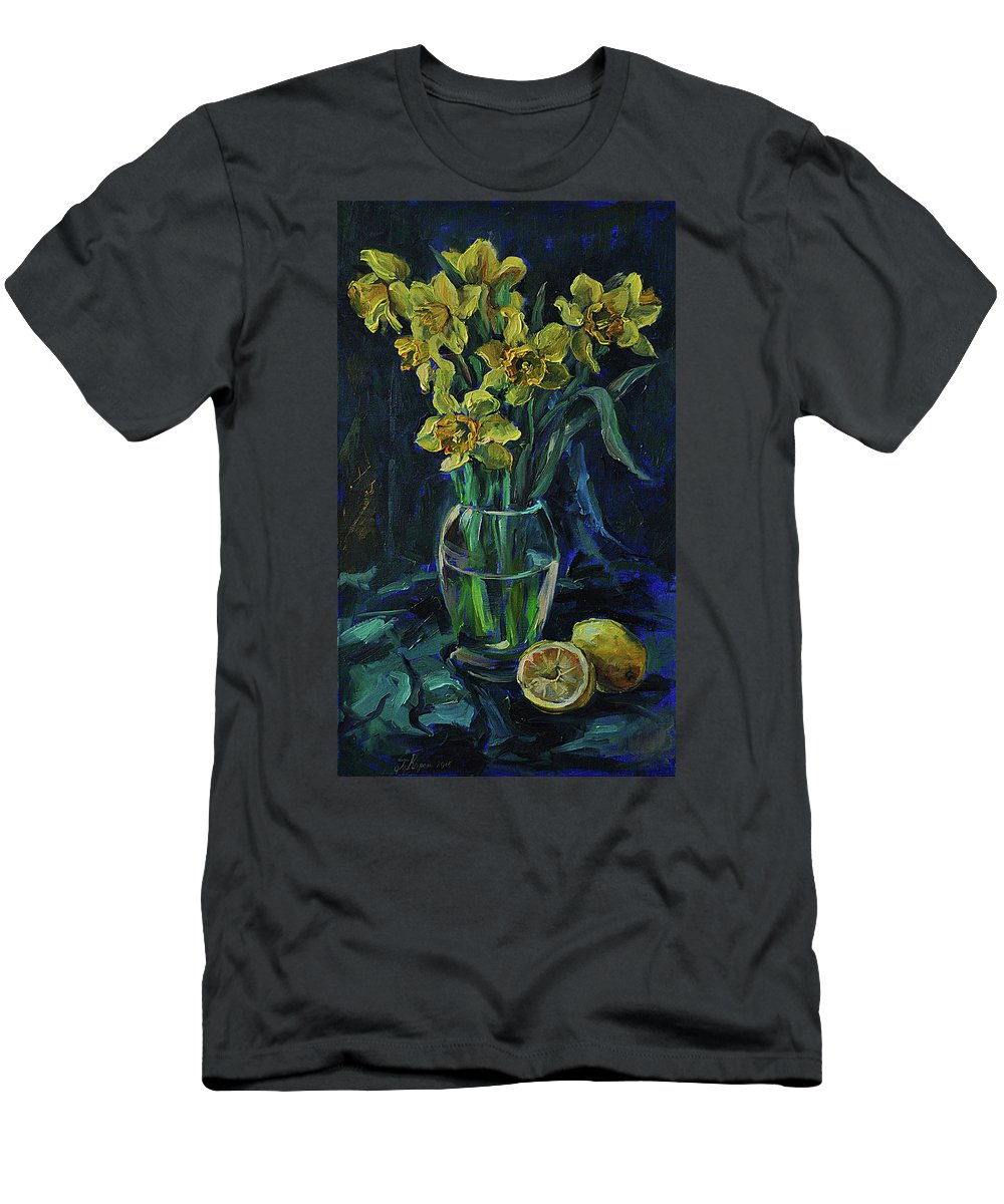 Lomon Men's T-Shirt (Athletic Fit) featuring the painting Flemons by Tetiana Korol