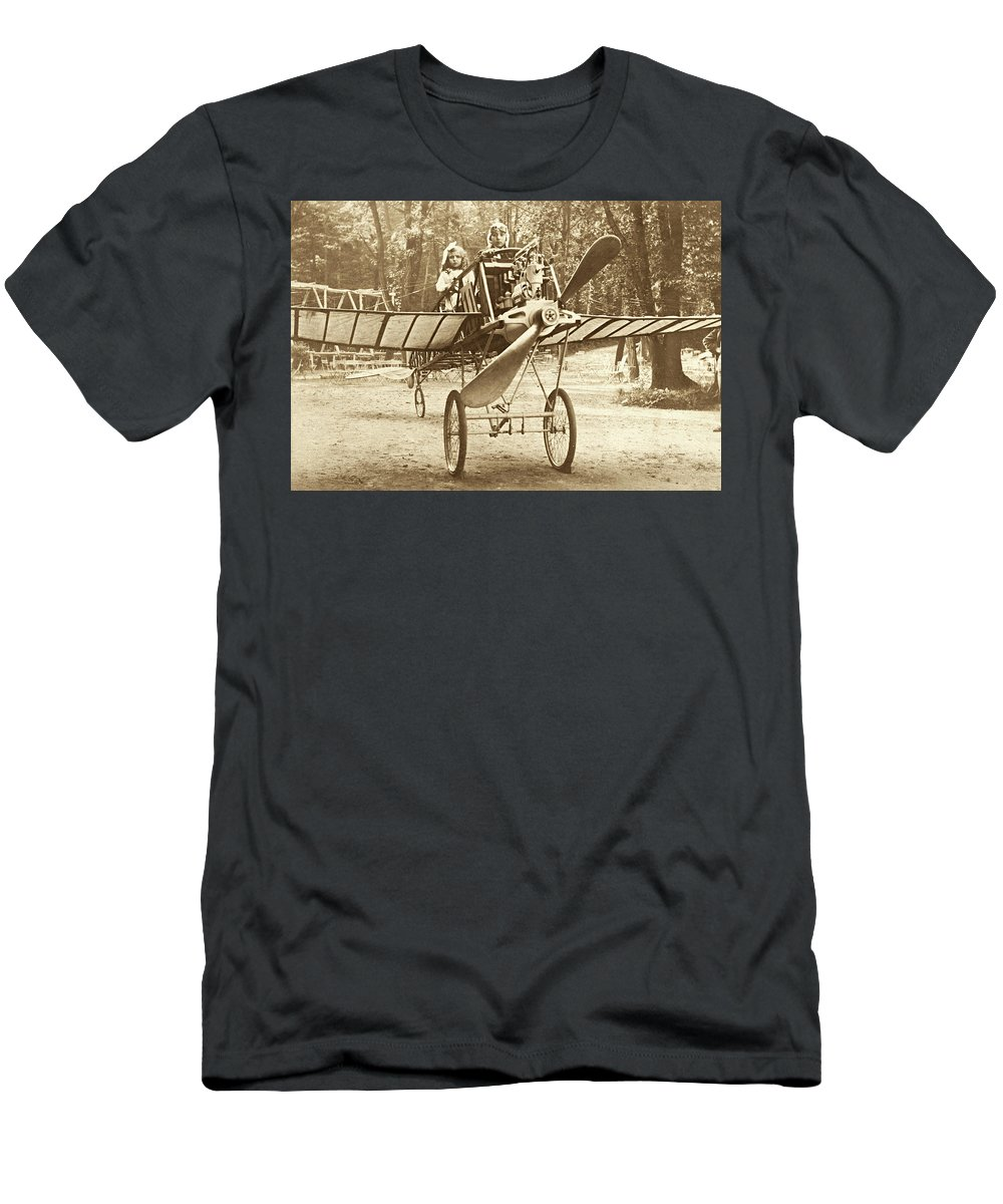 Vintage Aviation Men's T-Shirt (Athletic Fit) featuring the photograph Fly Away With My Heart by Jayson Tuntland
