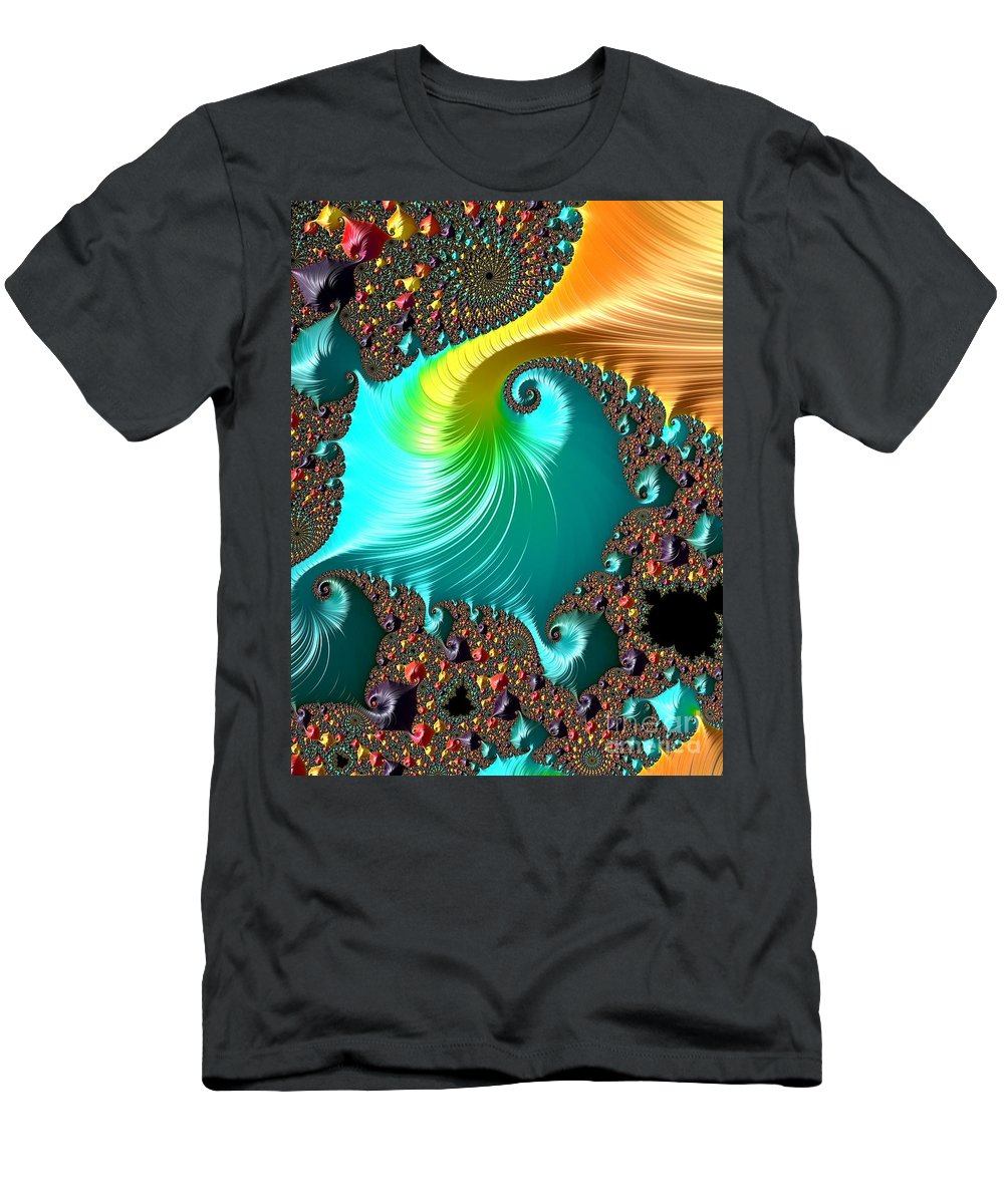 Abstract Men's T-Shirt (Athletic Fit) featuring the digital art Follow The Dots. by Minnetta Heidbrink