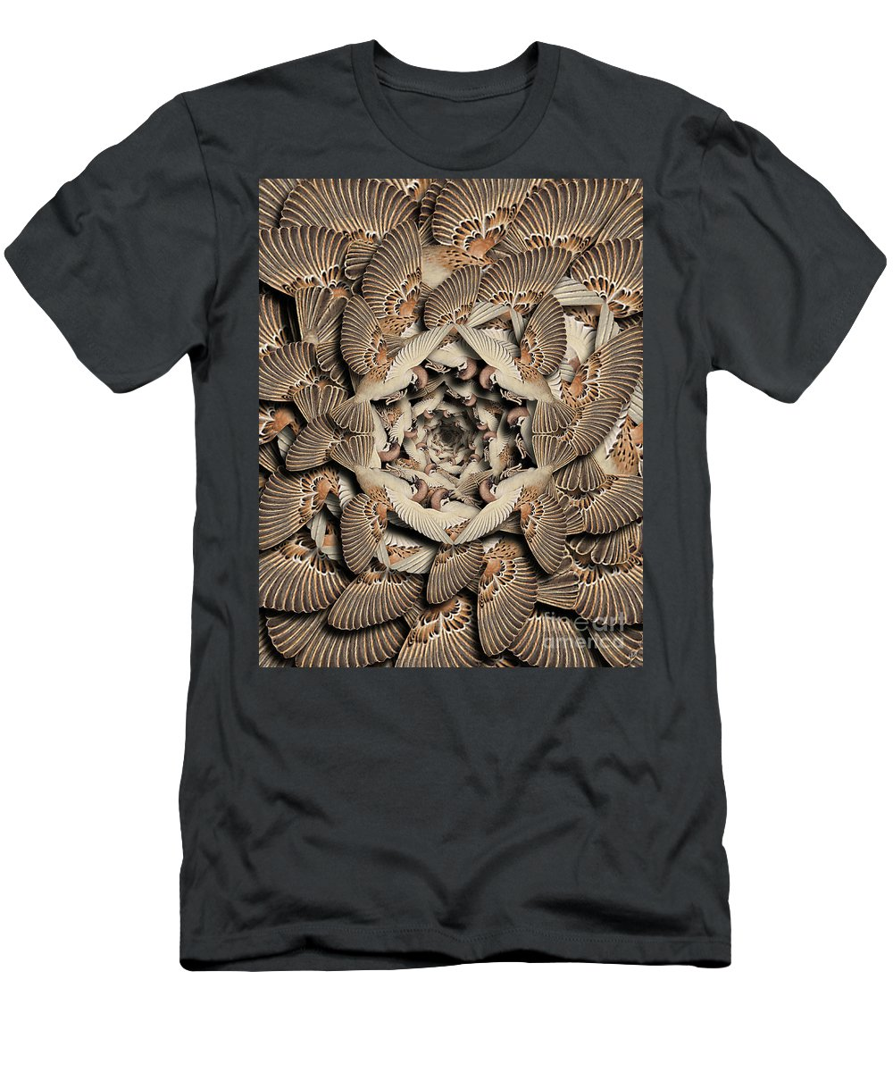 Bird T-Shirt featuring the digital art Forms of Nature #16 by Kenneth Rougeau