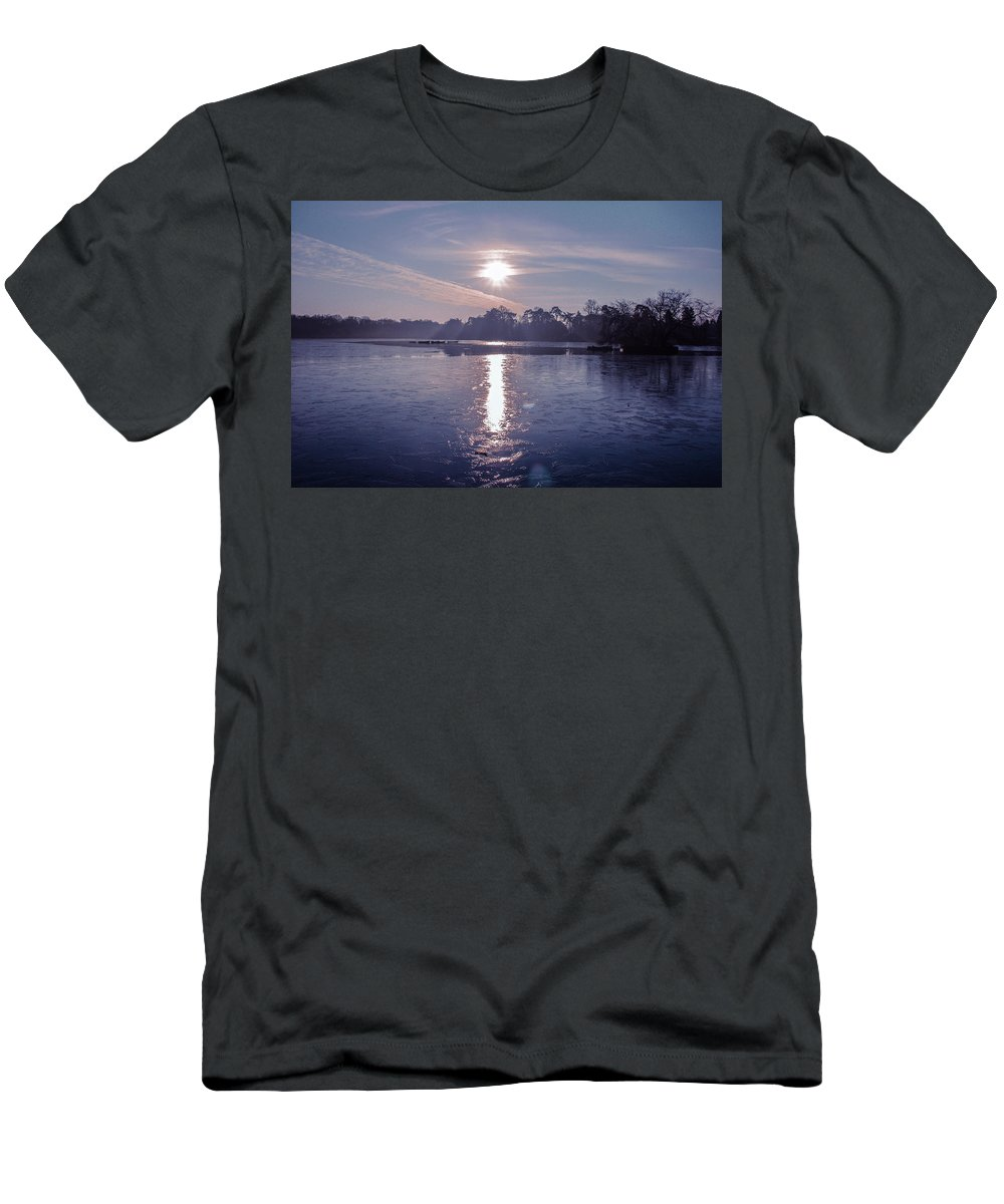 Lake T-Shirt featuring the photograph Frozen by Claire Lowe
