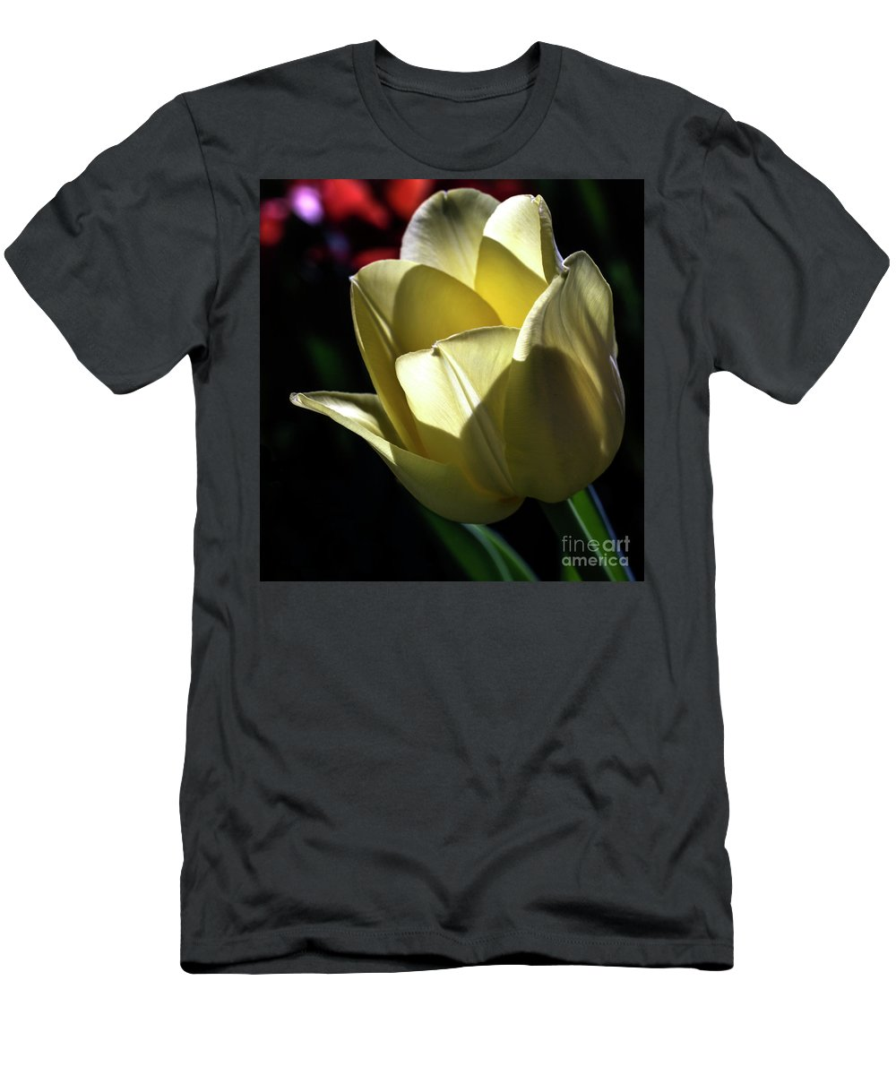 Yellow Men's T-Shirt (Athletic Fit) featuring the photograph Glowfilled by Doug Norkum