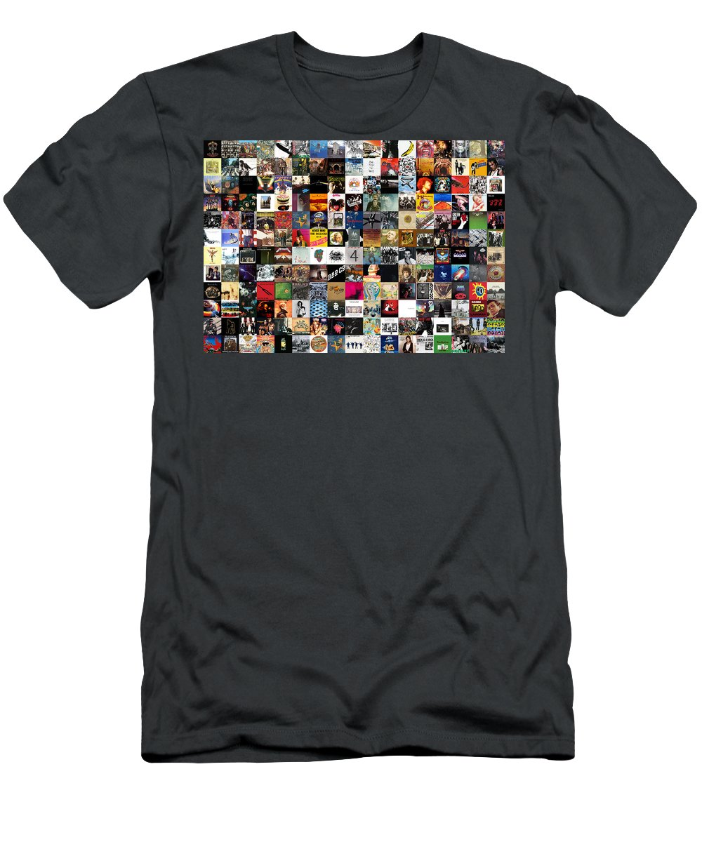 Album Covers T-Shirt featuring the digital art Greatest Rock Albums of All Time by Zapista OU
