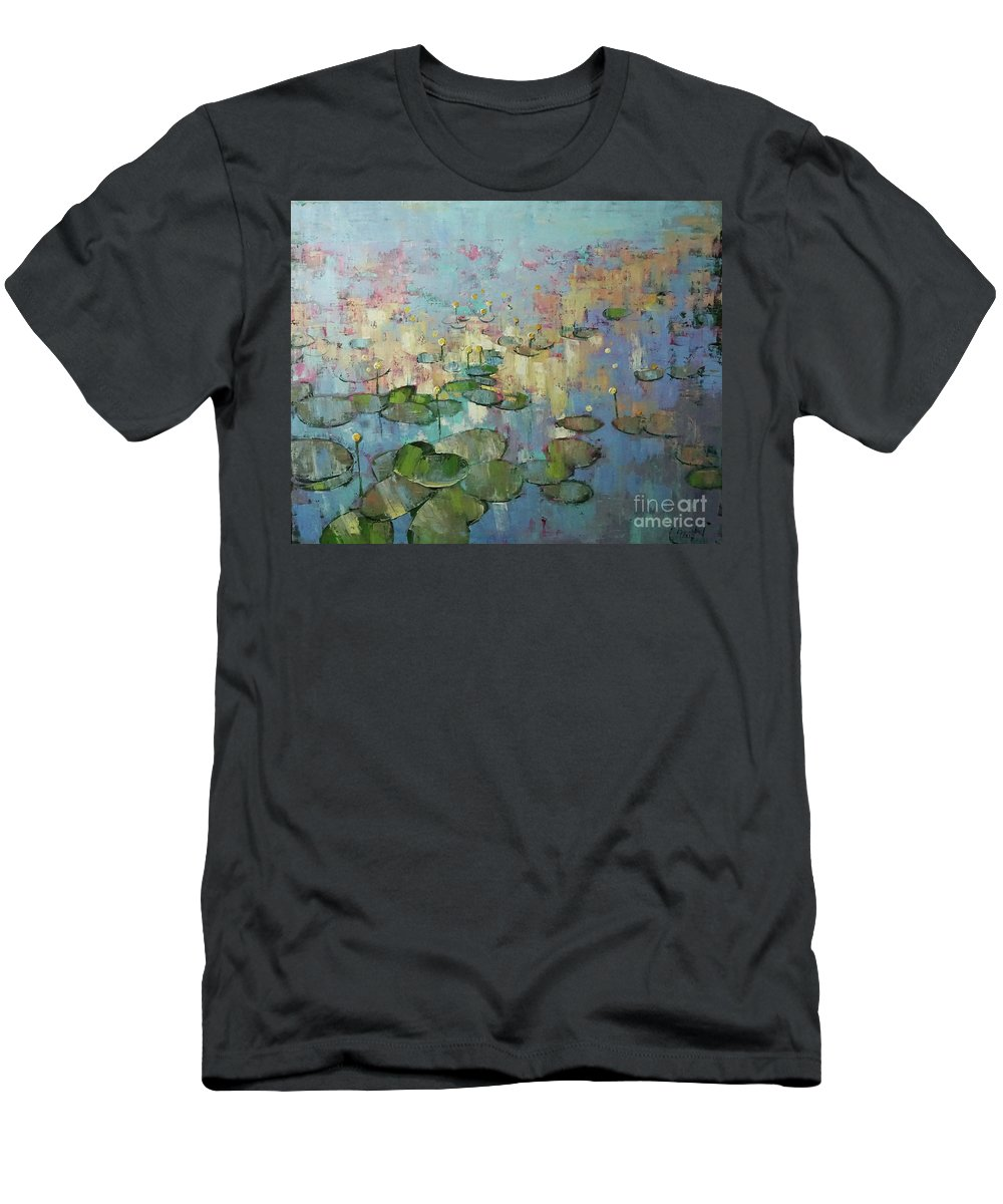 Water Men's T-Shirt (Athletic Fit) featuring the painting Having Glanced Once by Anastasija Kraineva