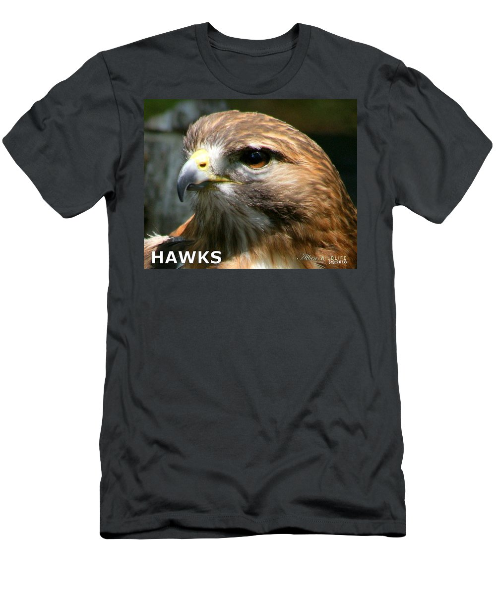 Hawks Men's T-Shirt (Athletic Fit) featuring the photograph Hawks Mascot 2 by Larry Allan
