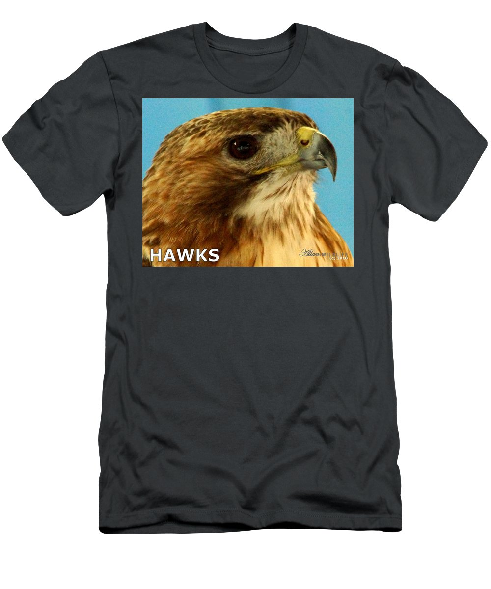 Hawks Men's T-Shirt (Athletic Fit) featuring the photograph Hawks Mascot 3 by Larry Allan