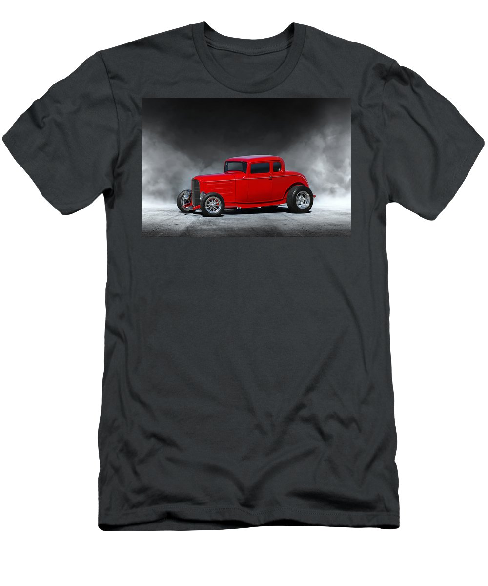 1932 Ford Men's T-Shirt (Athletic Fit) featuring the digital art Hot Rod by Peter Chilelli