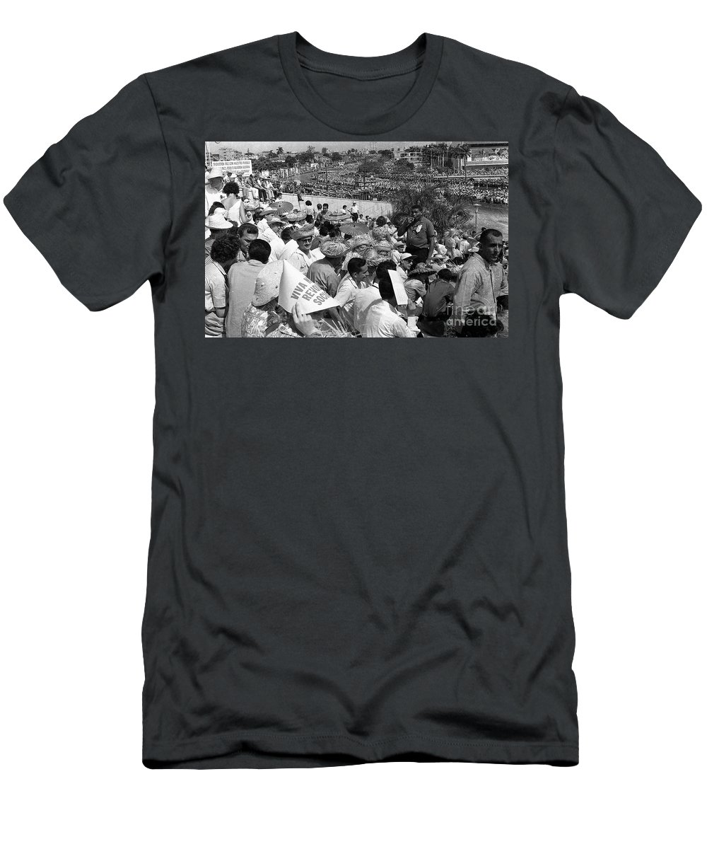Men Watch Marchers March Men's T-Shirt (Athletic Fit) featuring the photograph I Would Not Give Up This Seat by Venancio Diaz