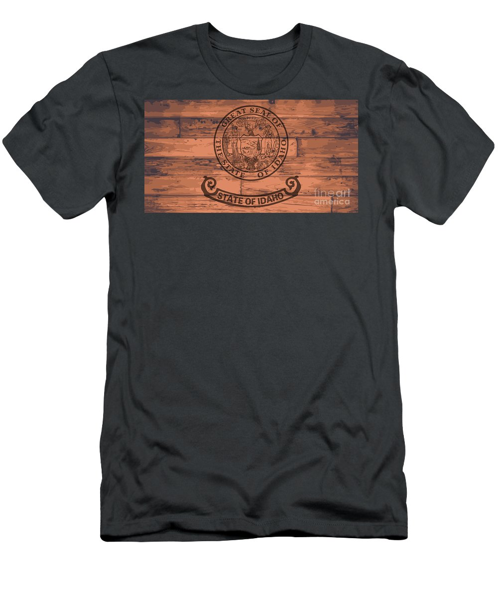 Idaho Men's T-Shirt (Athletic Fit) featuring the digital art Idaho State Flag Brand by Bigalbaloo Stock