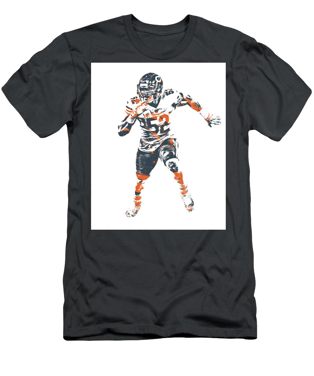 sports shoes 9afe2 f7eef Khalil Mack Chicago Bears Pixel Art 1 Men's T-Shirt (Athletic Fit)