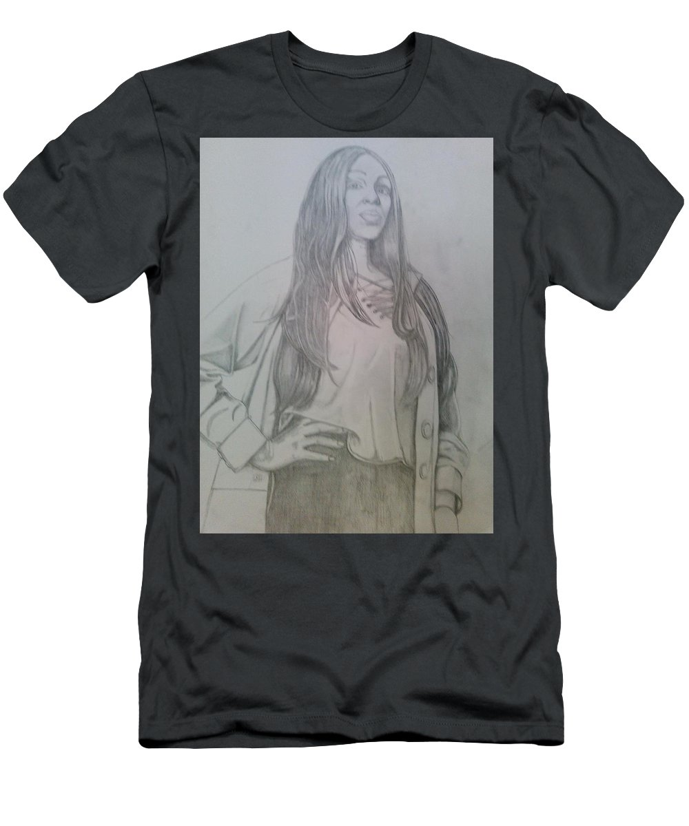 Drawing T-Shirt featuring the drawing Kiki model by Andrew Johnson