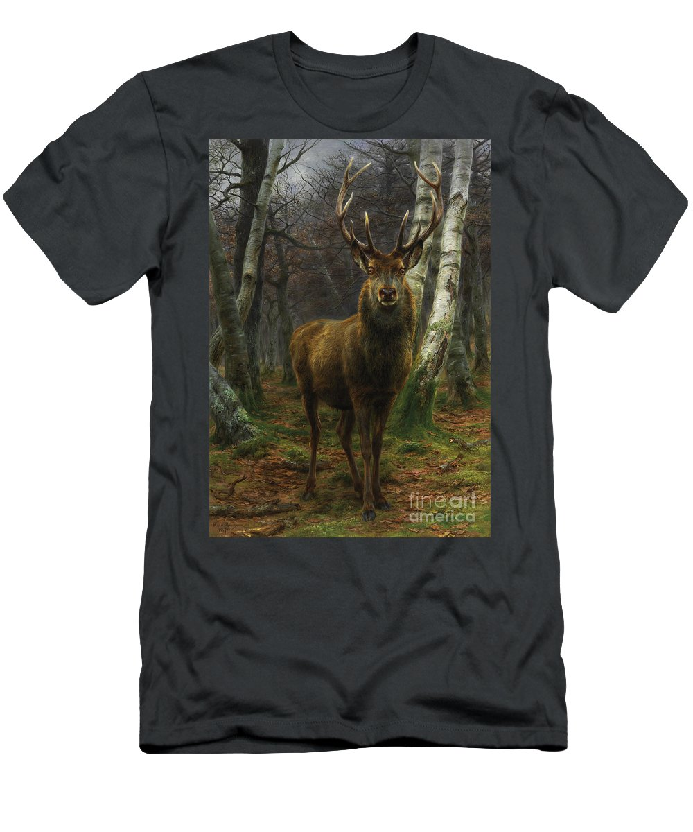 Rosa Bonheur T-Shirt featuring the painting King Of The Forest by Rosa Bonheur