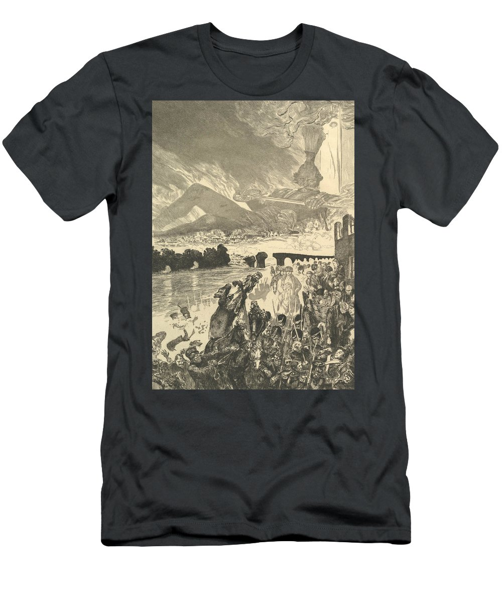 19th Century Art Men's T-Shirt (Athletic Fit) featuring the relief Krieg, From The Series Vom Tode Zweiter Teil by Max Klinger