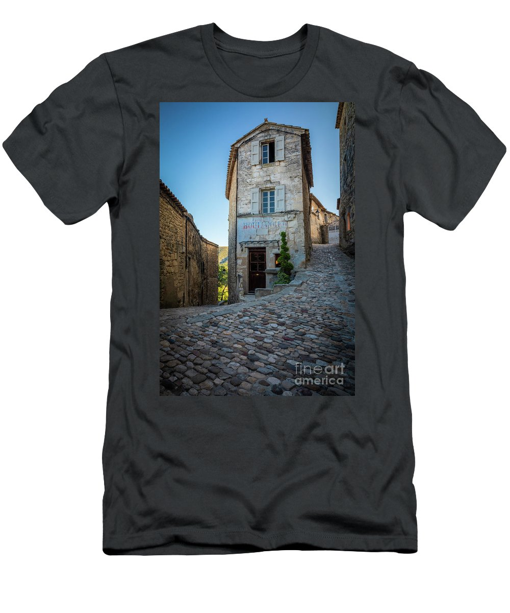 Europa T-Shirt featuring the photograph Lacoste Boulangerie by Inge Johnsson