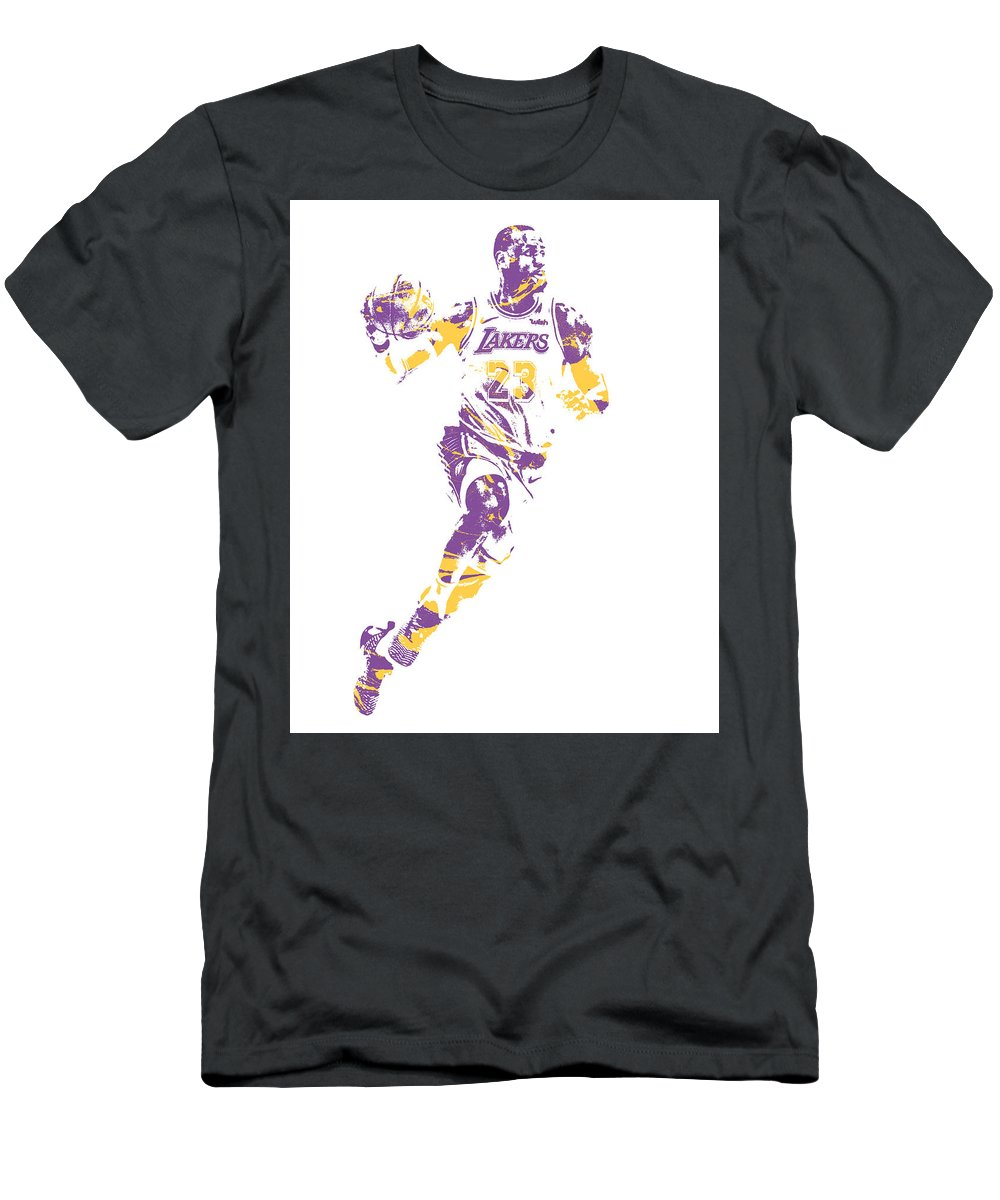 brand new ff2f8 01947 Lebron James Los Angeles Lakers Pixel Art 2 Men's T-Shirt (Athletic Fit)