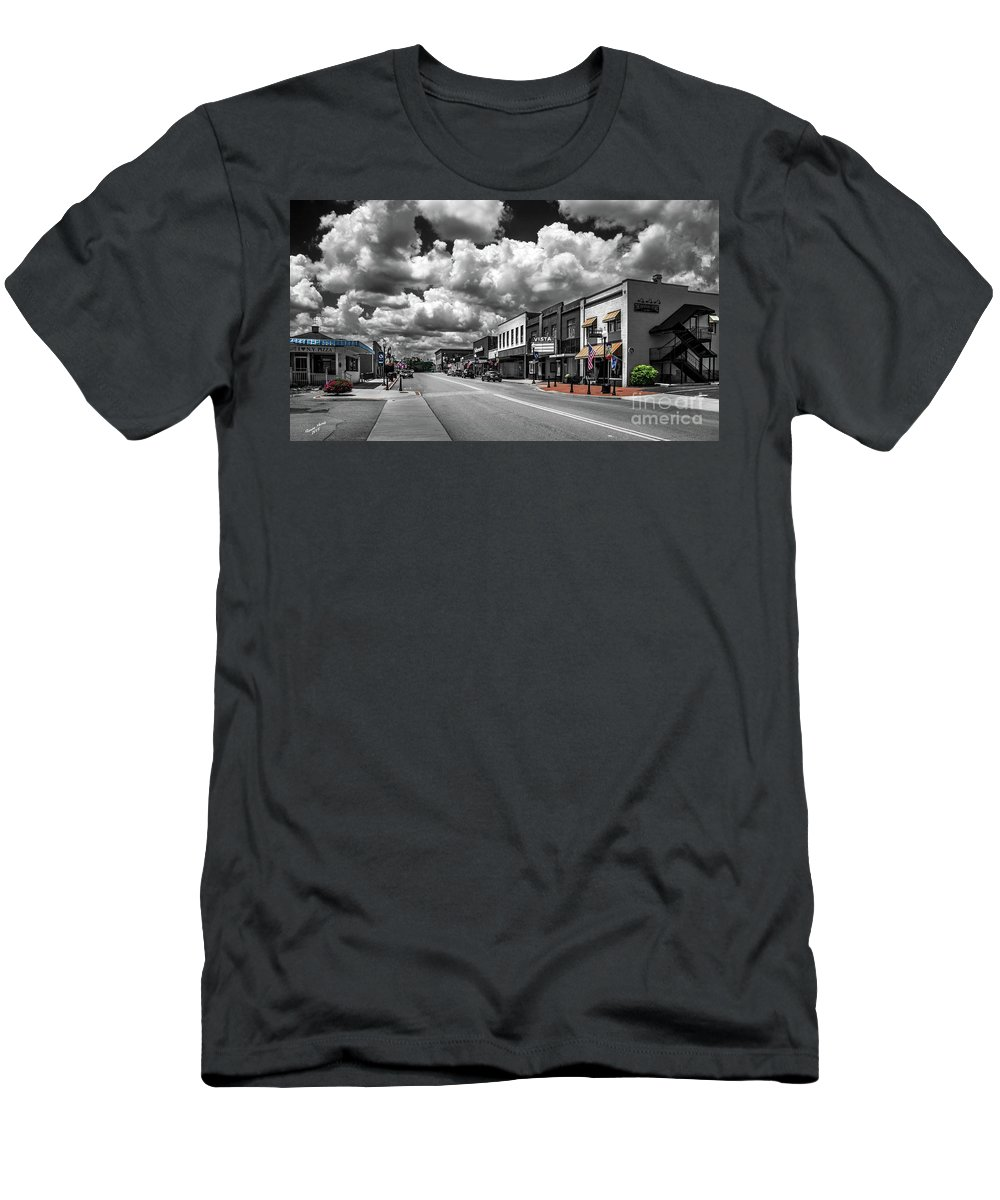 Town Men's T-Shirt (Athletic Fit) featuring the photograph Main Street by Aaron Shortt