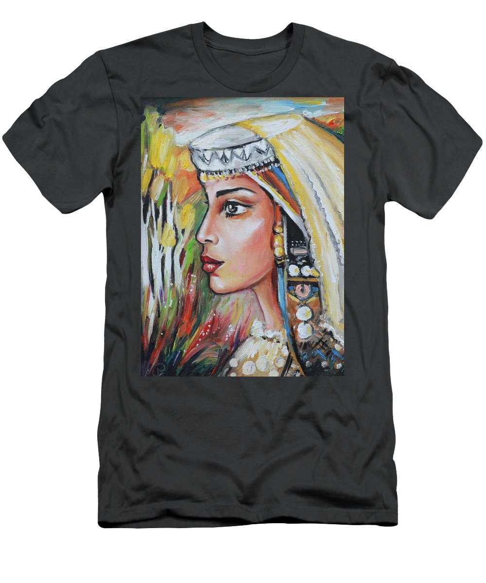 Women Men's T-Shirt (Athletic Fit) featuring the painting Memories Of Past by Steff Goranova