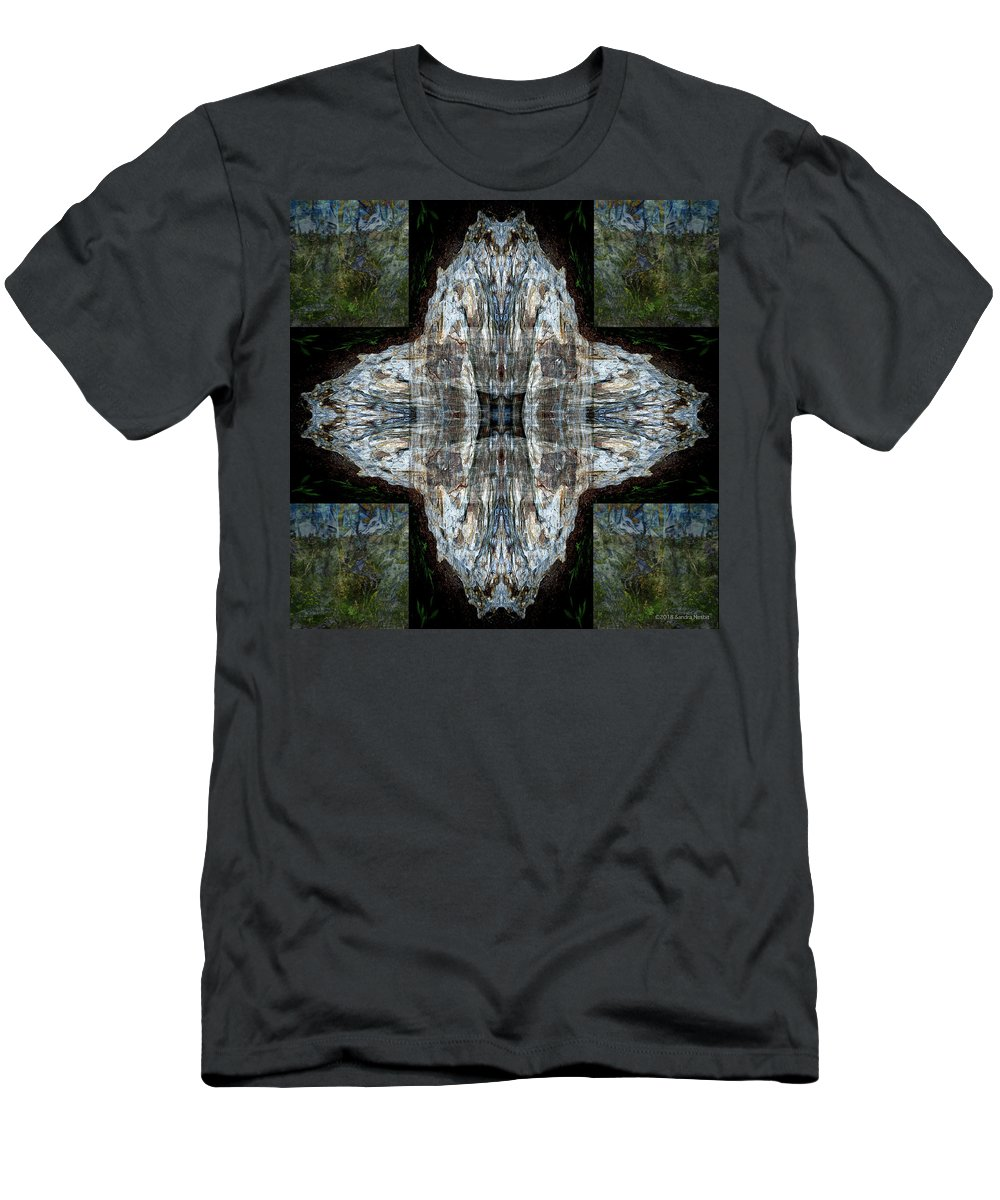 Tree Trees Sky Multiple Exposures Mountains Stowe Vermont Men's T-Shirt (Athletic Fit) featuring the digital art Memories Untangeled by Sandra Nesbit