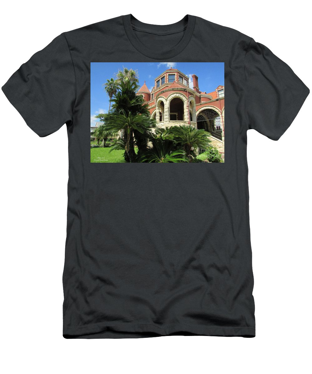 Moody Mansion Men's T-Shirt (Athletic Fit) featuring the photograph Moody Mansion by Pamula Reeves-Barker