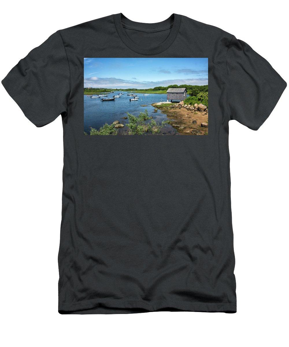 Martha's Vineyard T-Shirt featuring the photograph Nashaquitsa Pond On Martha's Vineyard by Brendan Reals