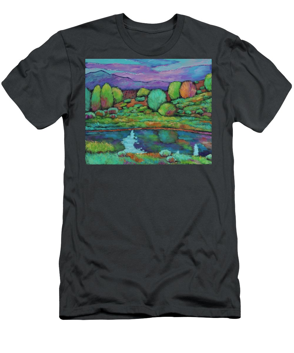 New Mexico Men's T-Shirt (Athletic Fit) featuring the painting Oasis by Johnathan Harris