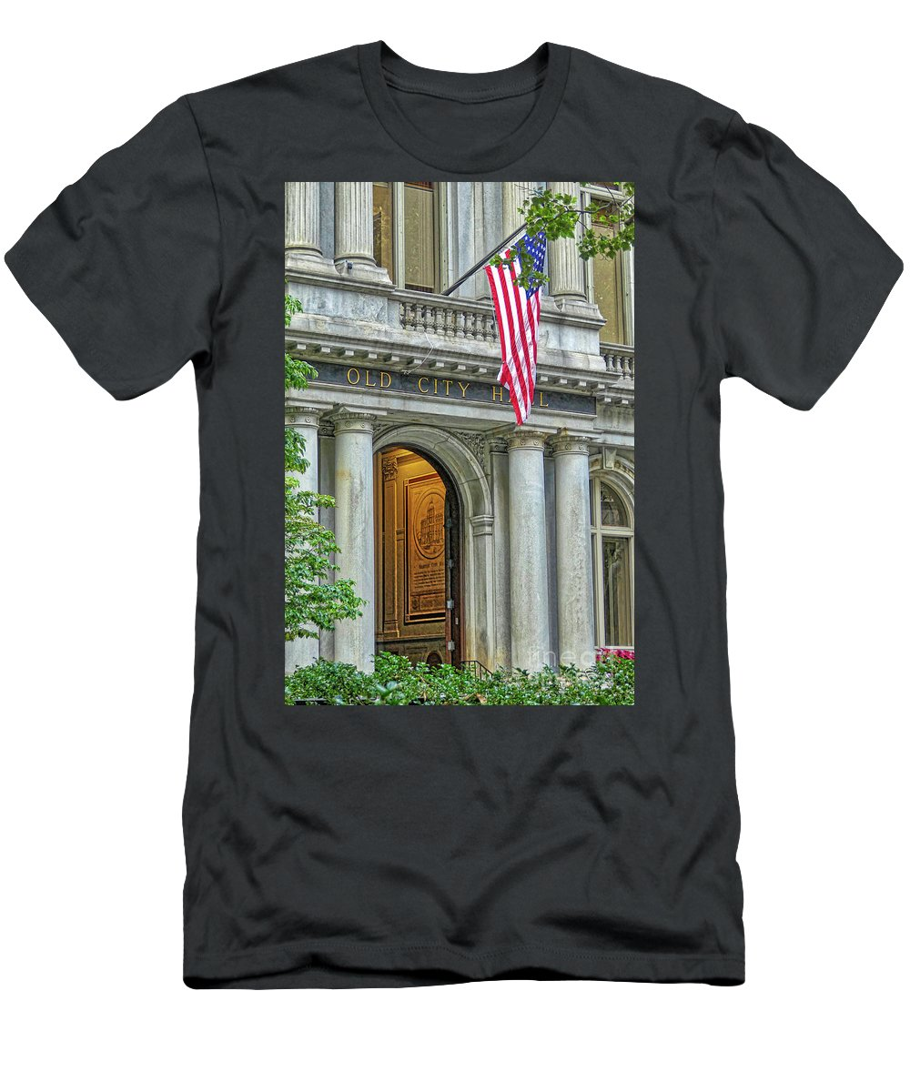 Boston Men's T-Shirt (Athletic Fit) featuring the photograph Old City Hall Of Boston by Amy Dundon