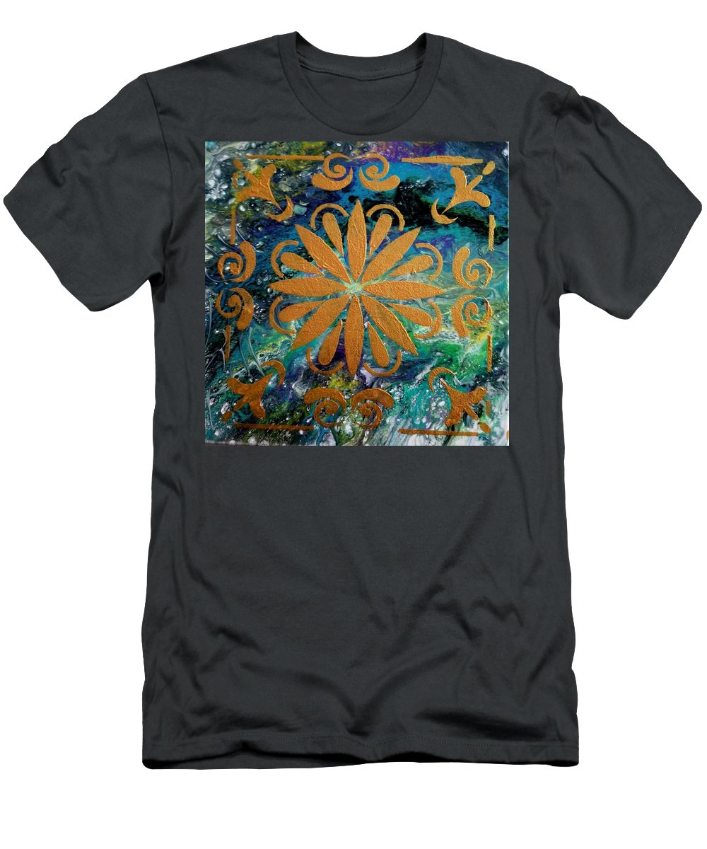 Colorful T-Shirt featuring the painting Peaceful mind by Valerie Josi