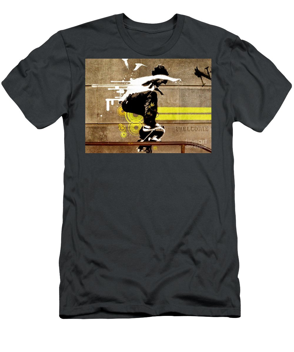 Influence Men's T-Shirt (Athletic Fit) featuring the photograph Perspective  by EliteBrands Co