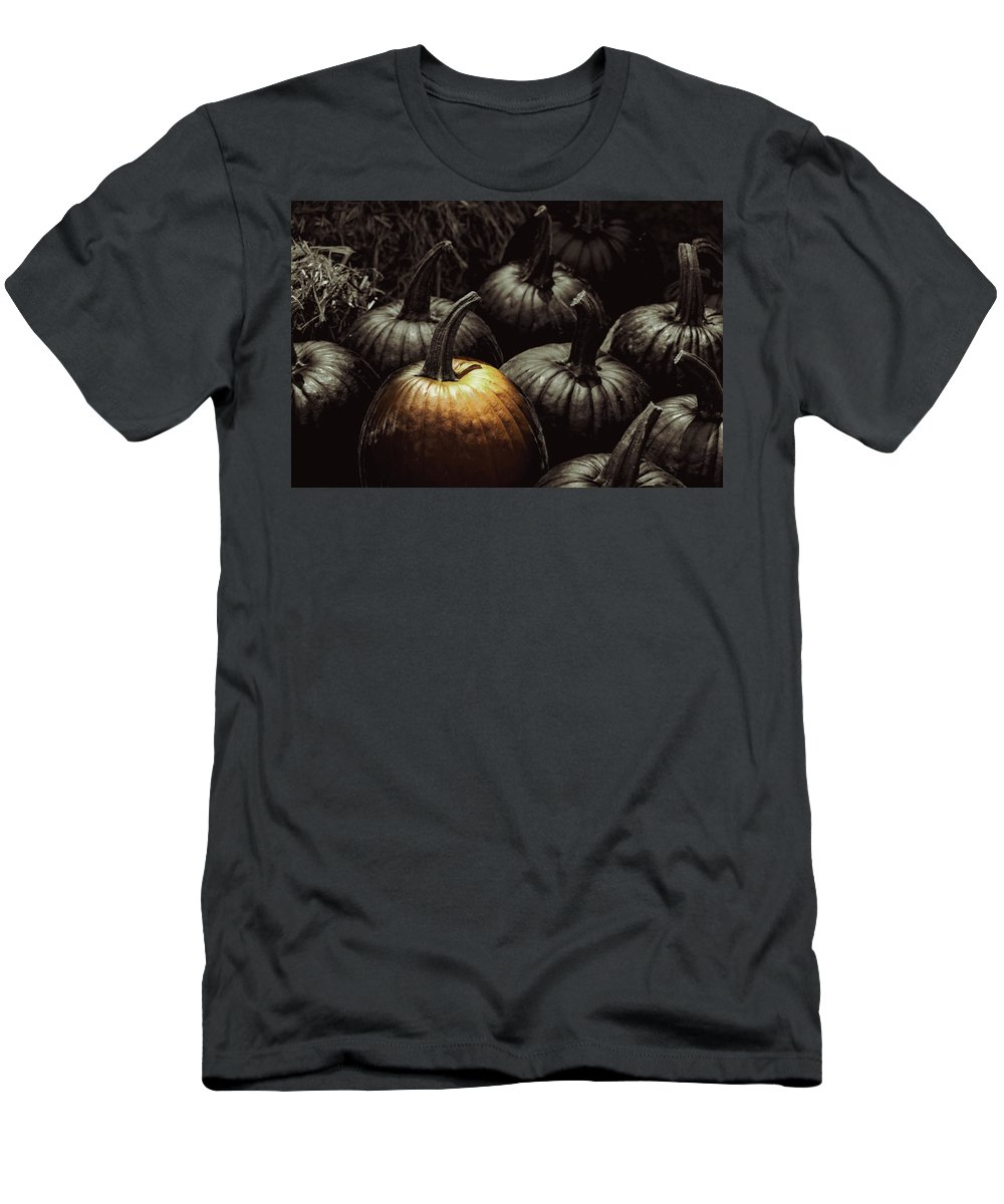 Pumpkin Men's T-Shirt (Athletic Fit) featuring the photograph Pick Me by Ches Black
