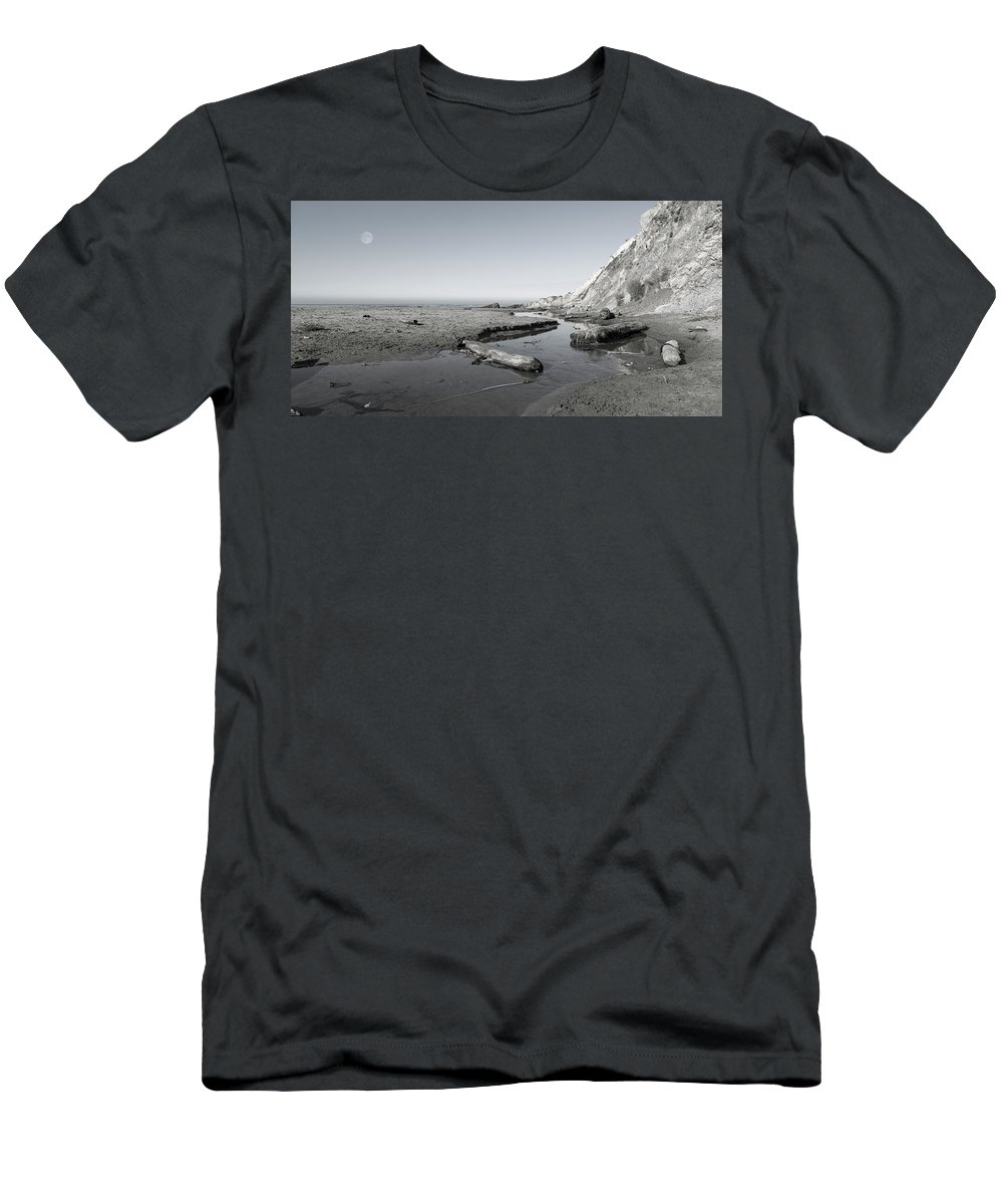 California Men's T-Shirt (Athletic Fit) featuring the photograph Point Arena Beach California by Betsy Knapp