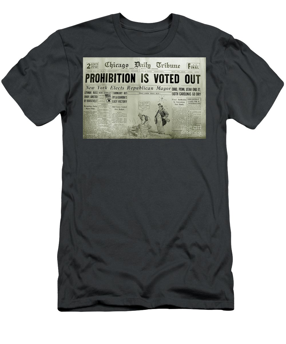 Prohibition Voted Out Men's T-Shirt (Athletic Fit) featuring the photograph Prohibition Voted Out by Jon Neidert