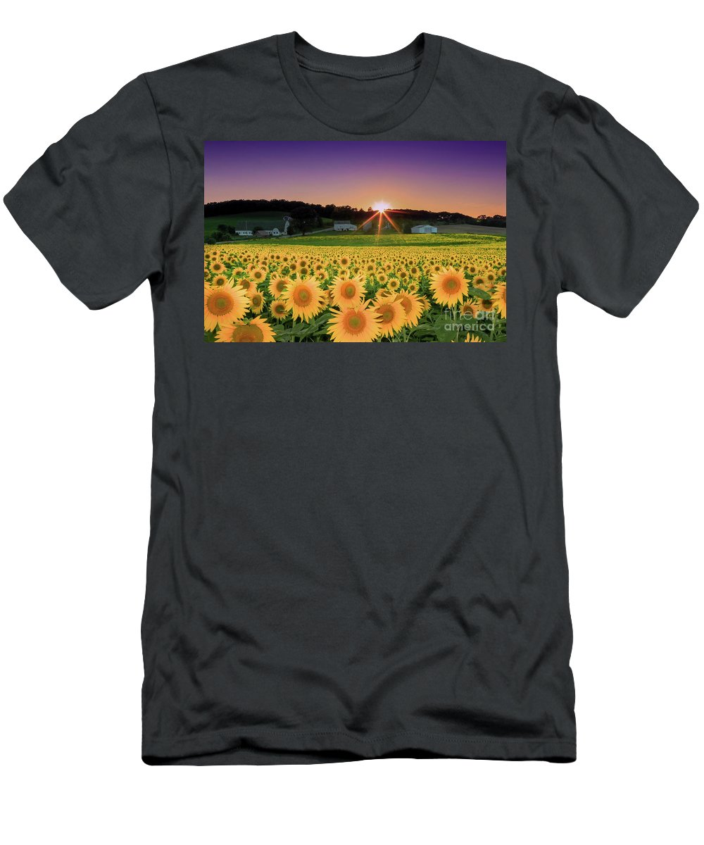 Sunflower Men's T-Shirt (Athletic Fit) featuring the photograph Purple Daze by Martina Schneeberg-Chrisien
