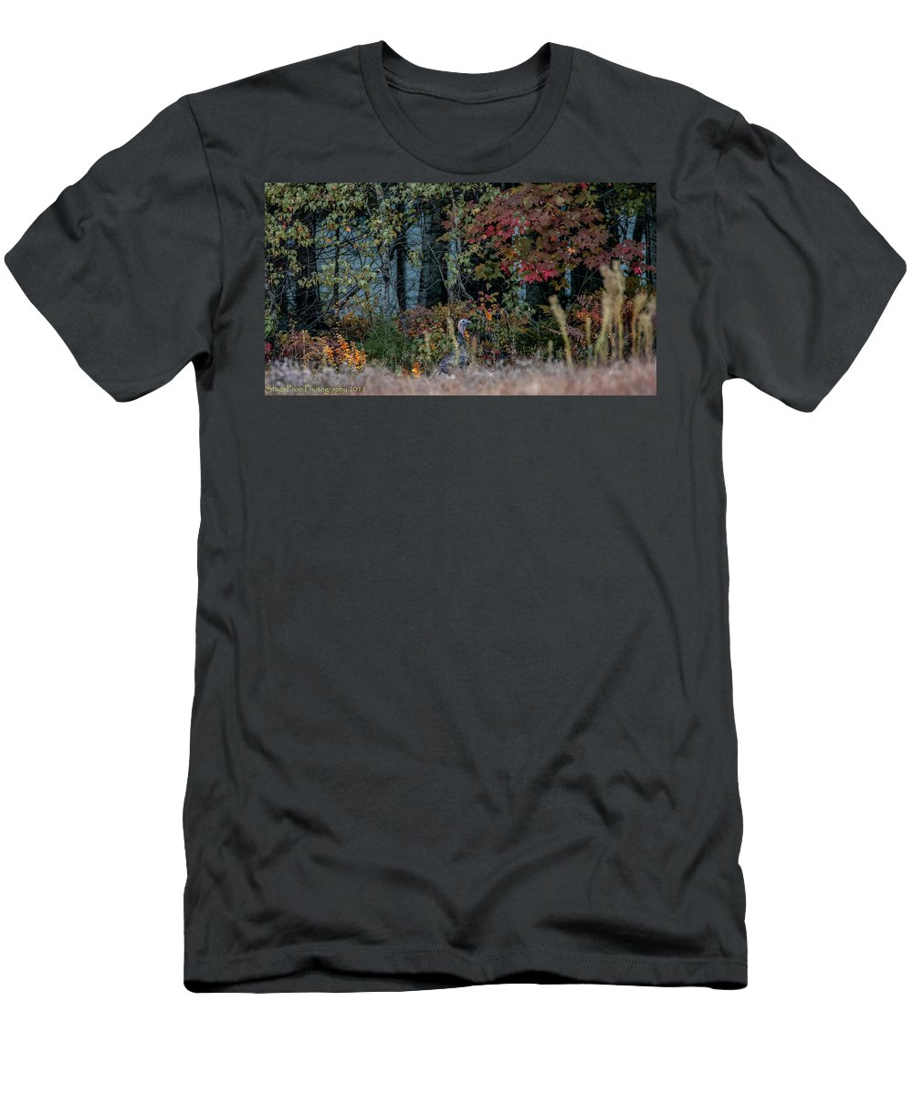 Turkey Enfield Men's T-Shirt (Athletic Fit) featuring the photograph Retreat by Steven Prop