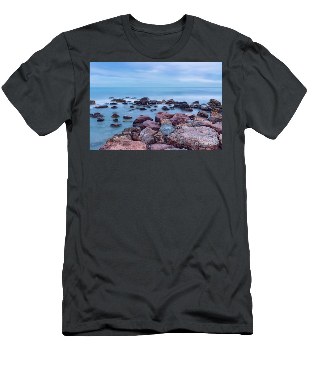 Photography T-Shirt featuring the photograph Rocks And Sea by Vicente Sargues