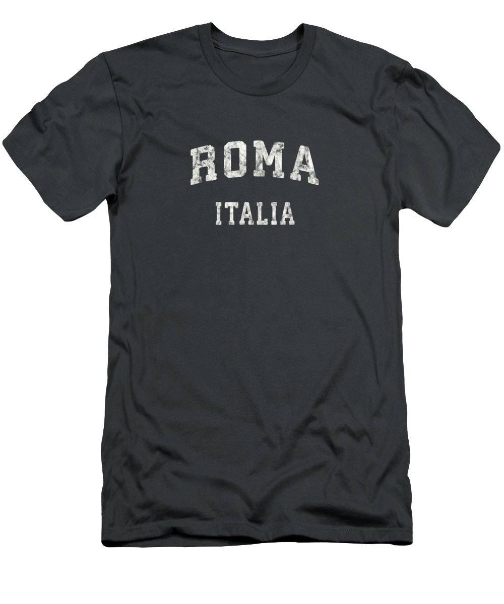 girls' Novelty T-shirts T-Shirt featuring the digital art Rome Italy T-shirt Vintage Roma Italia Sports Design Tee by Do David