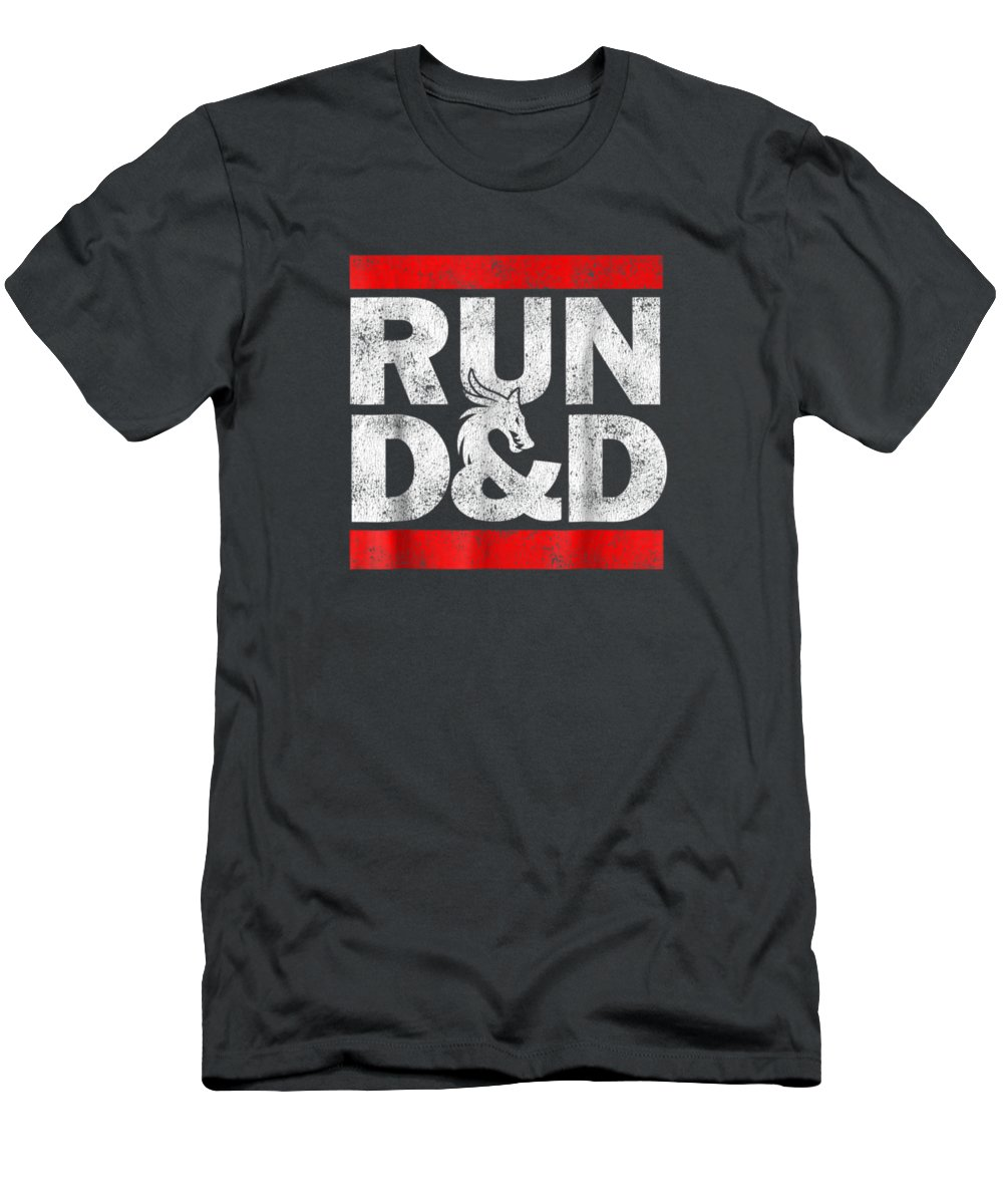 women's Fashion T-Shirt featuring the digital art Run Dnd Dungeon Game Tabletop Rpg Shirt by Do David