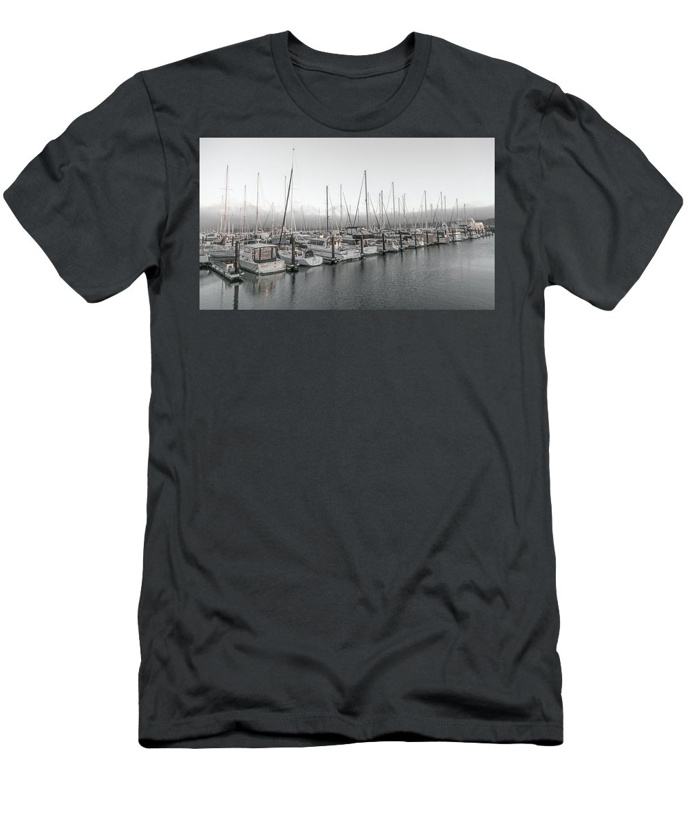 Sausalito Men's T-Shirt (Athletic Fit) featuring the photograph Sausalito California Peaceful Harbor by Betsy Knapp