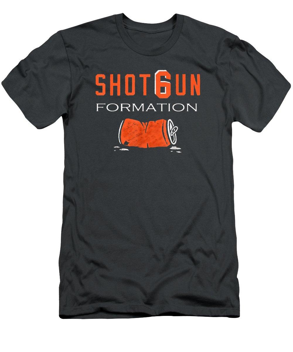 men's Novelty T-shirts T-Shirt featuring the digital art Shot6un Formation Tshirt Shot Gun Formation Tee Shirt by Do David