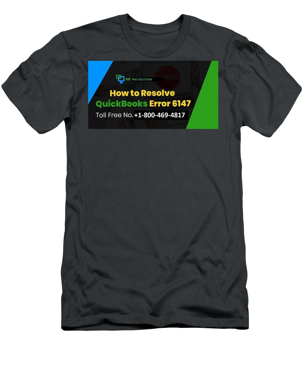Quickbooks Error 6147-0 Men's T-Shirt (Athletic Fit) featuring the mixed media Solution Quickbooks Web Connector Error 6147,0 by Emma
