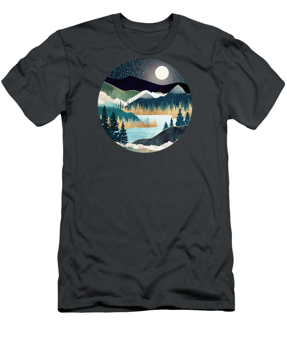 Stars T-Shirt featuring the digital art Star Lake by Spacefrog Designs