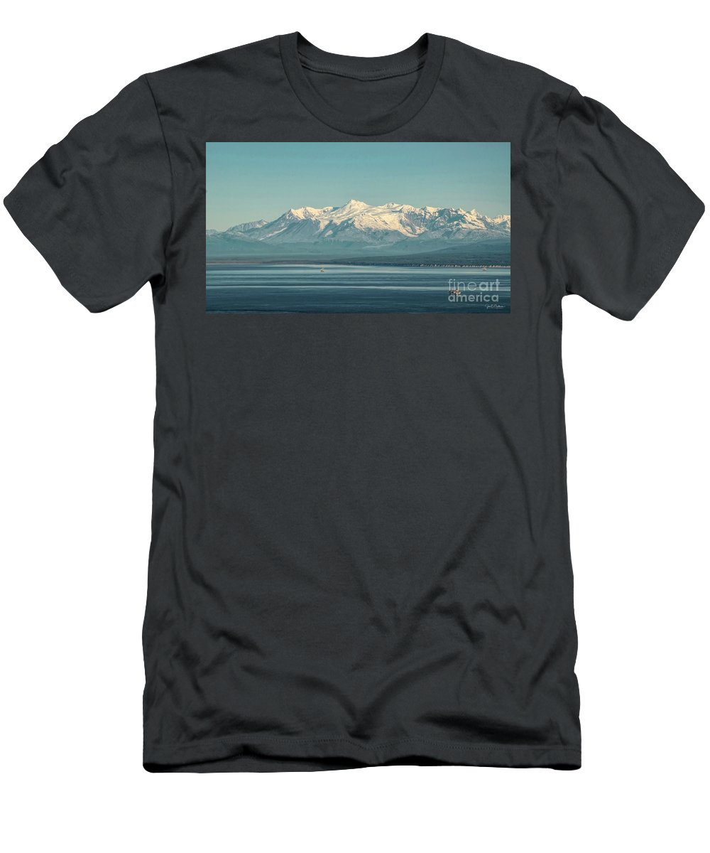 Mountain Men's T-Shirt (Athletic Fit) featuring the photograph The Beauty Of The Journey II by Jan Mulherin
