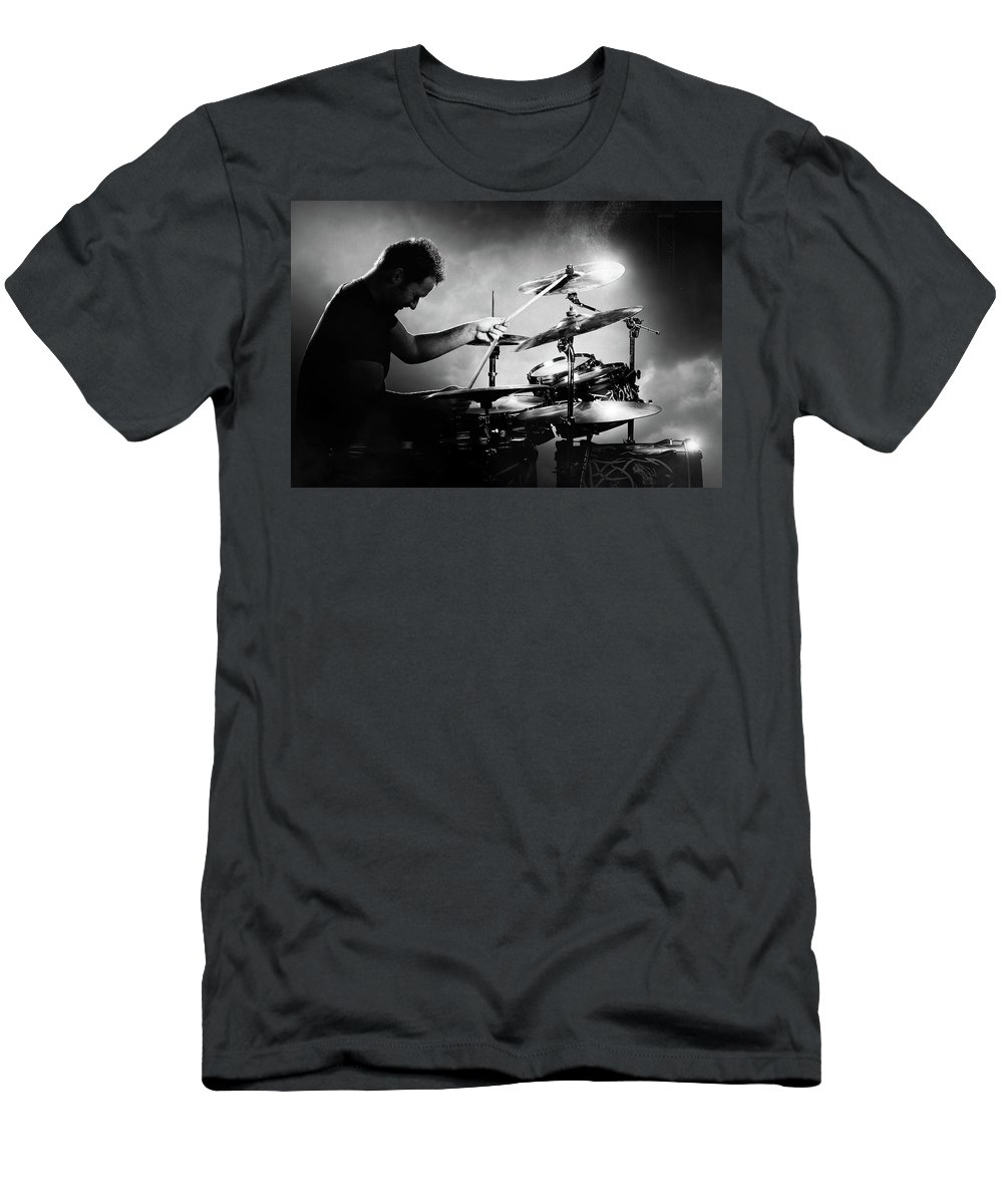 Drummer T-Shirt featuring the photograph The Drummer by Johan Swanepoel