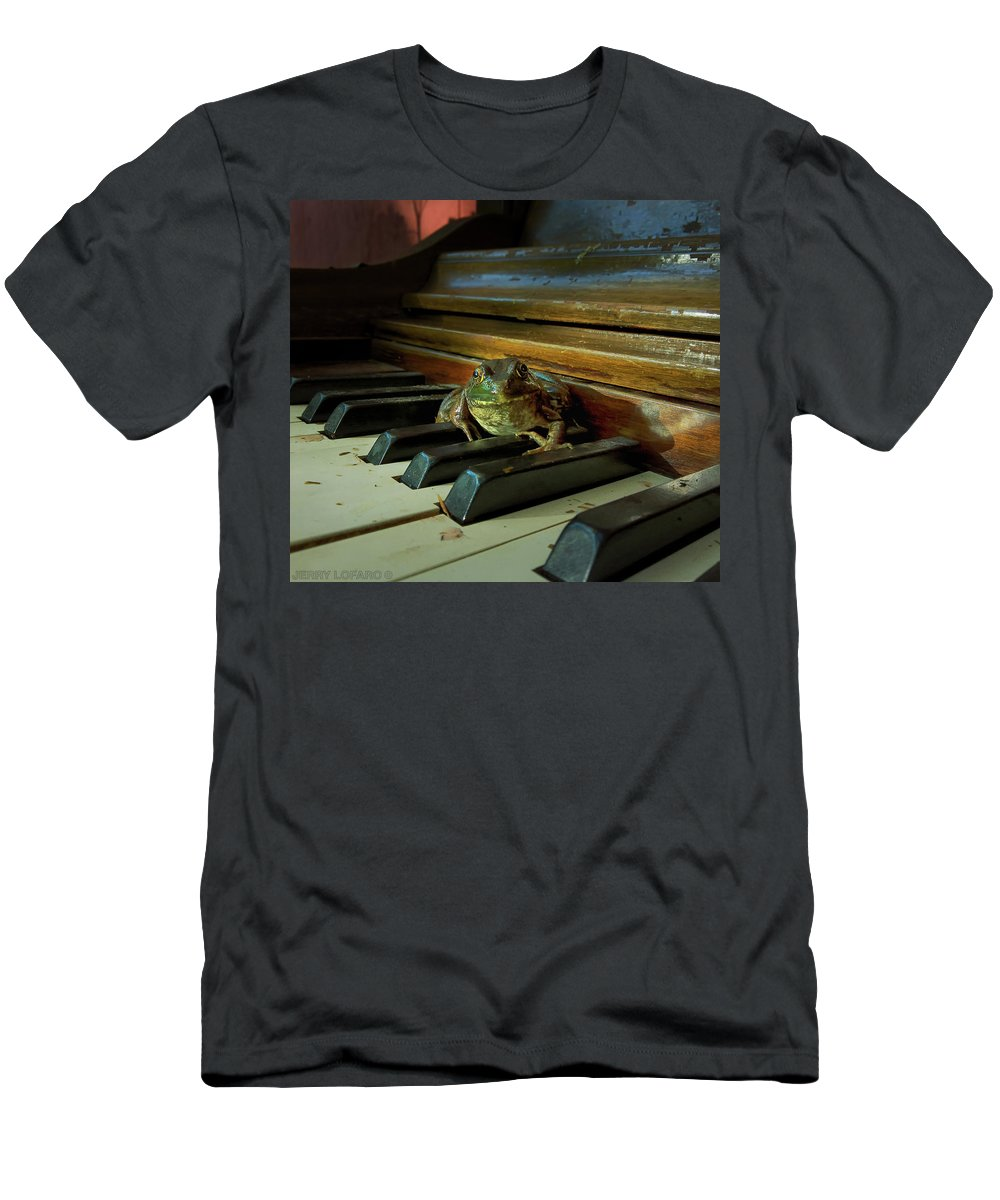 Frog Men's T-Shirt (Athletic Fit) featuring the photograph The F Key by Jerry LoFaro
