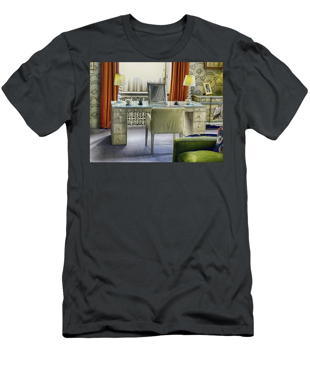 Office Men's T-Shirt (Athletic Fit) featuring the photograph The Office by Sharon Lisa Clarke