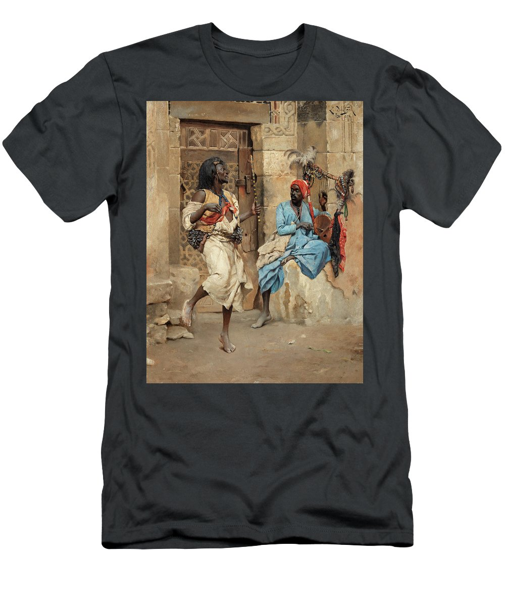 Ludwig Deutsch T-Shirt featuring the painting The Performance by Ludwig Deutsch